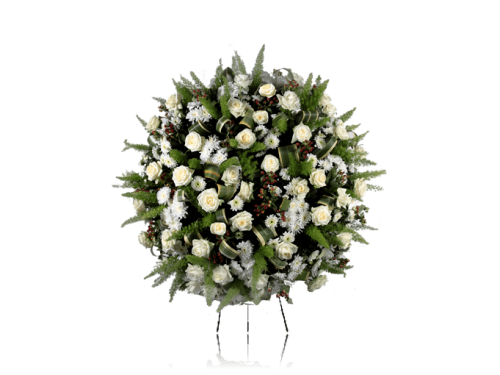 Coroa Fúnebre Branca