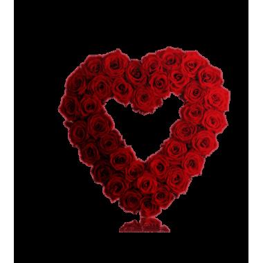 Coração de Rosas Vermelhas Aberto