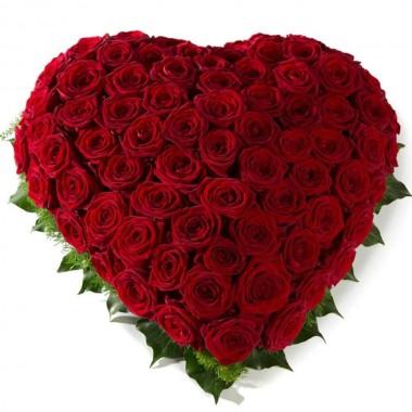 Coração de Rosas Vermelhas Fechado