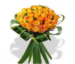 Bouquet de Rosas Cor-de-Laranja