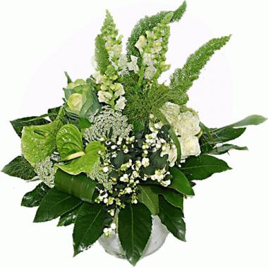 Jarra Flores Verde