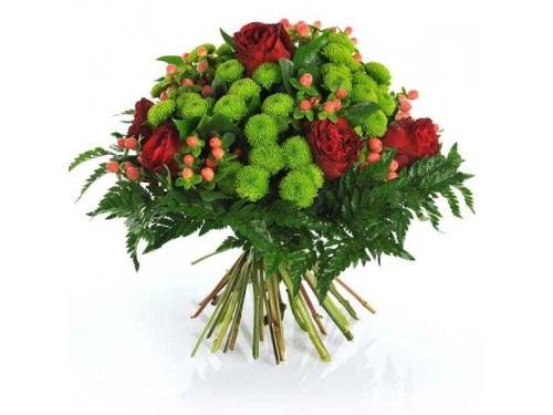 Bouquet de Flores Vermelho e Verde