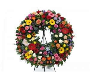 "Coroa Fúnebre ""Multi-Flores"""