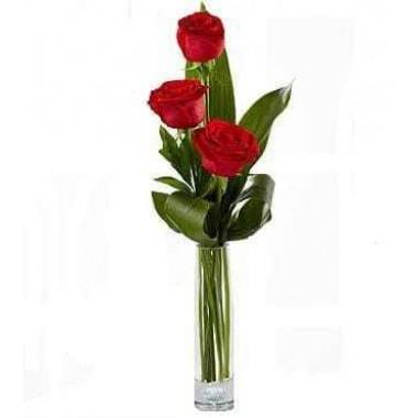 Solitário com 3 Rosas