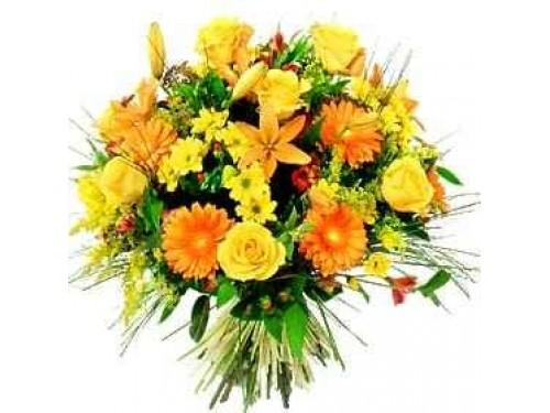 Bouquet Laranja e Amarelo