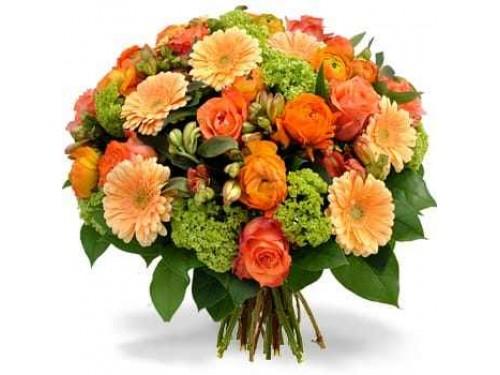 Bouquet de Flores Salmao e Verde